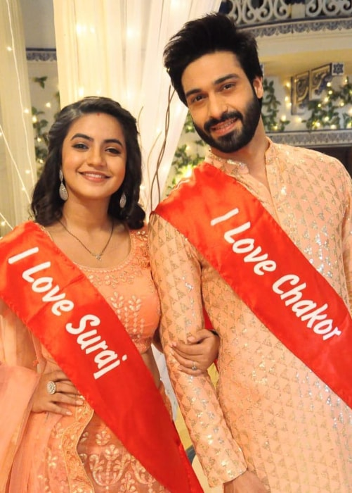 Meera Deosthale as seen in a picture taken with her on-screen husband Vijayendra Kumeria on Udaan in December 2018