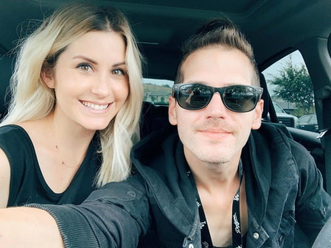 Mikey Way and Kristin Colby in a selfie in June 2019