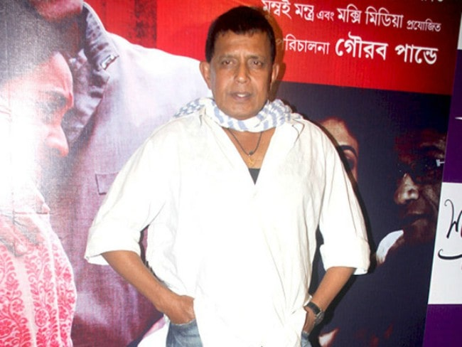 Mithun Chakraborty at the premiere of Bengali film Shukno Lanka in August 2012