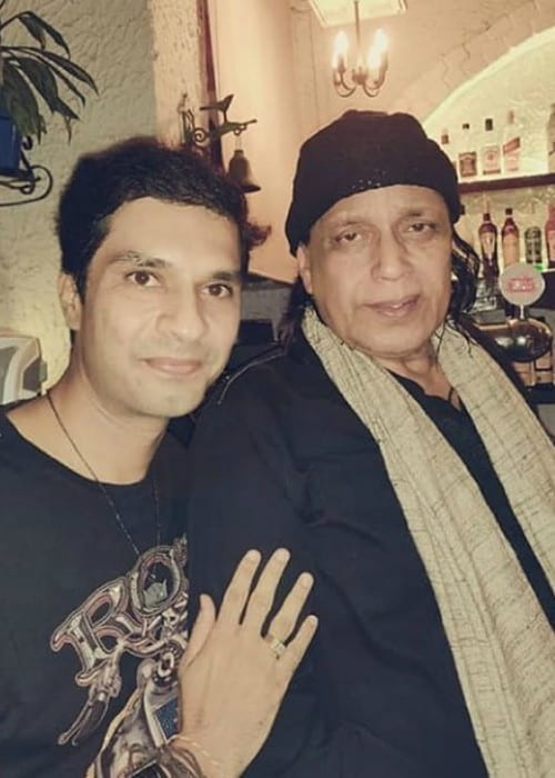 Mithun Chakraborty with a fan as seen in June 2019