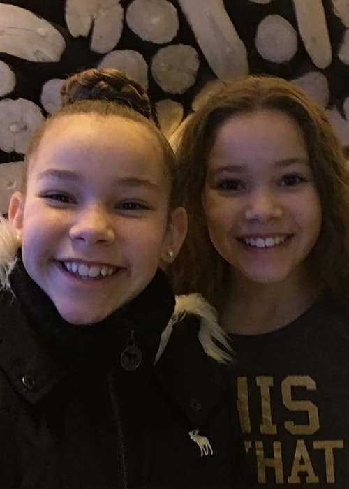Olivia Haschak (Left) as seen while taking a selfie along with her sister, Sierra Haschak, in March 2017