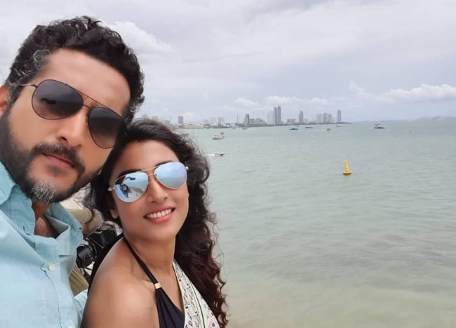 Paoli Dam as seen in an Instagram selfie with Arjun Deb in September 2019