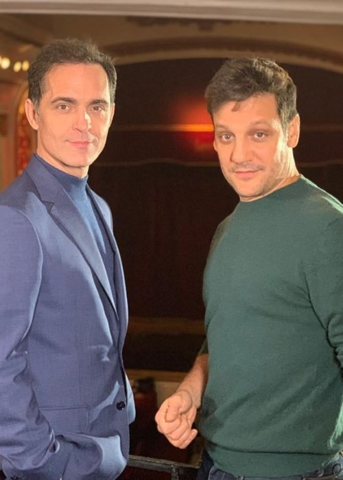Pedro Alonso (Left) as seen while posing for the camera alongside Rodrigo de la Serna in July 2019