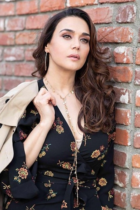 Preity Zinta as seen posing for a photoshoot in Los Angeles in August 2018