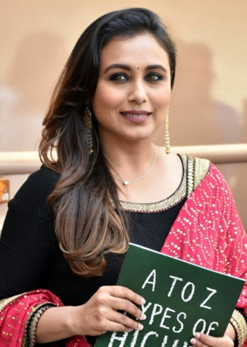 Rani Mukerji as seen promoting her film Hichki on the sets of reality show Dance India Dance in February 2018