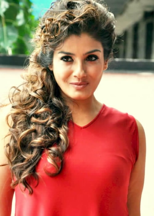 Raveena Tandon as seen in a picture taken at the PN Gadgil jeweller's promotion in July 2015