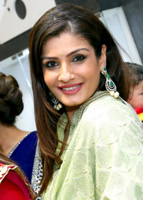 Raveena Tandon as seen in a picture taken while inaugurating the new store of 'Zaira Diamond' in Delhi in August 2013