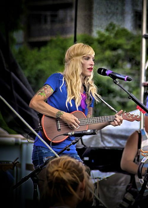 Sarah Blackwood during a performance in June 2012
