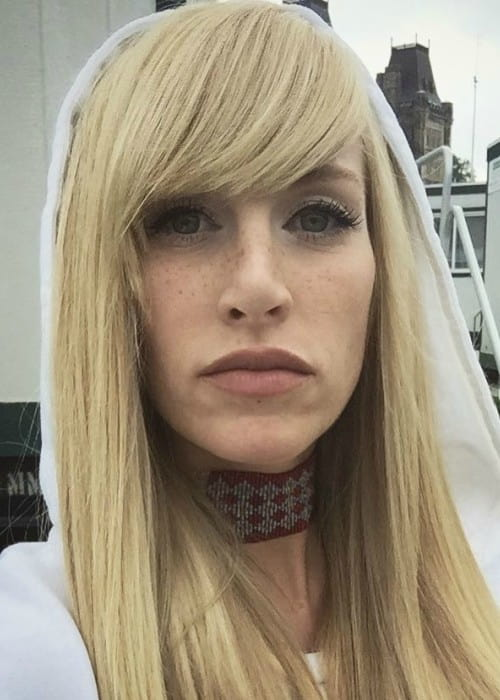 Sarah Blackwood in an Instagram selfie as seen in July 2017