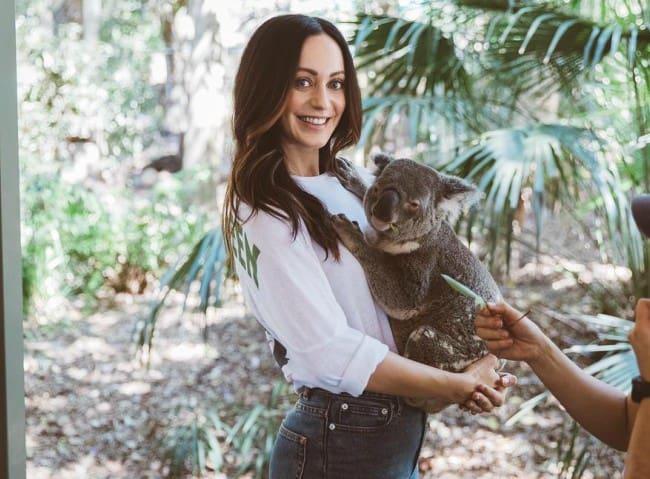 Sarah Orzechowski at the Lone Pine Koala Sanctuary in October 2018