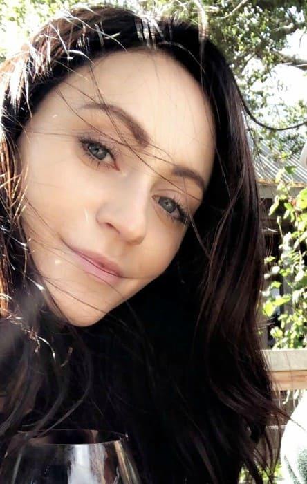 Sarah Orzechowski in an Instagram selfie as seen in May 2018