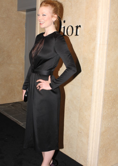 Sarah Snook as seen in a picture taken at the Christian Dior couture Sydney CBD store opening in January 2013