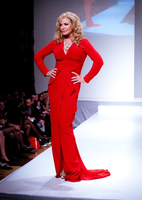 Shannon Tweed as seen in a picture taken while walking the ramp at the Heart and Stroke Foundation's The Heart Truth celebrity fashion show in March 2012