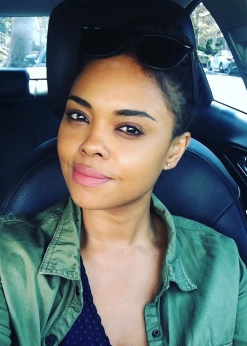 Sharon Leal as seen while taking a car selfie in June 2019