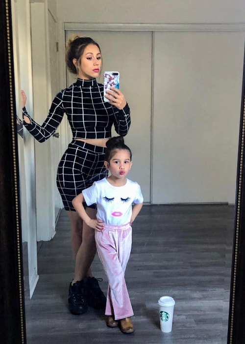 Solage Ortiz as seen while posing for her first mirror selfie along with her mother, Esthalla, in March 2019