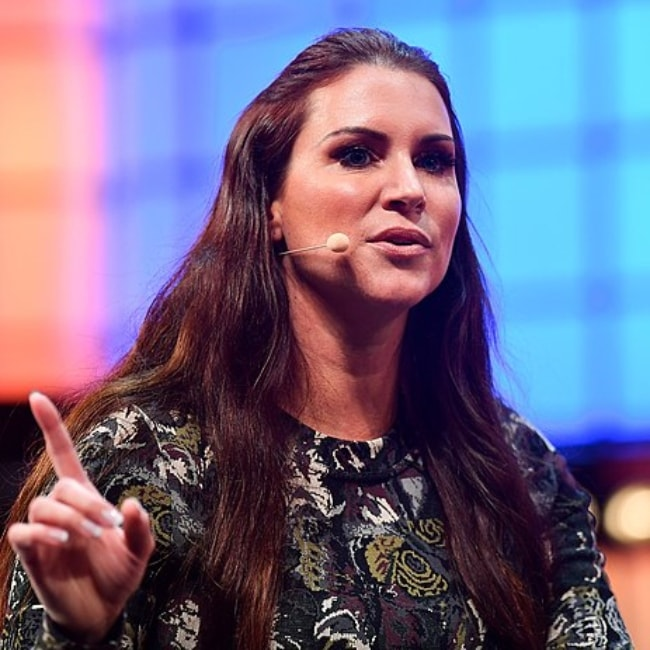 Stephanie McMahon as seen on Centre Stage during the opening day of Web Summit at the Altice Arena in Lisbon, Portugal in November 2018