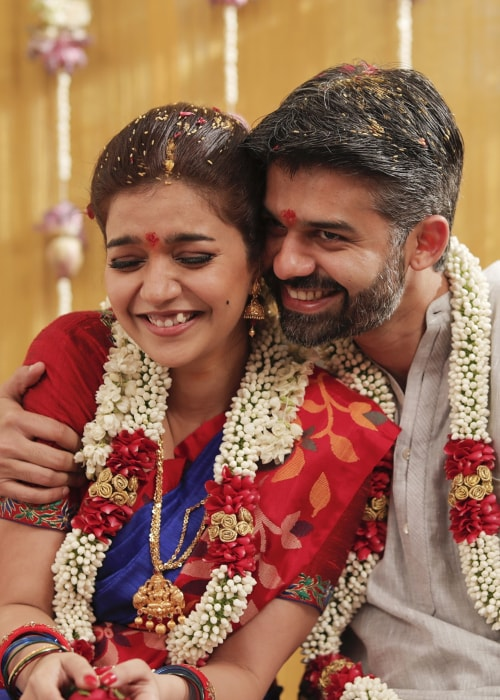Swathi Reddy as seen in a picture with her husband Vikas Vasu in August 2018