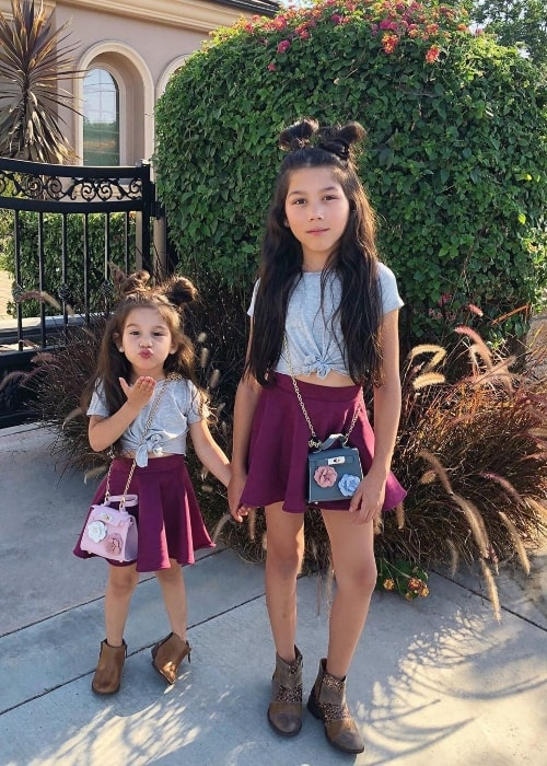 Txunamy as seen in a picture along with her younger sister, Solage Ortiz, in May 2019