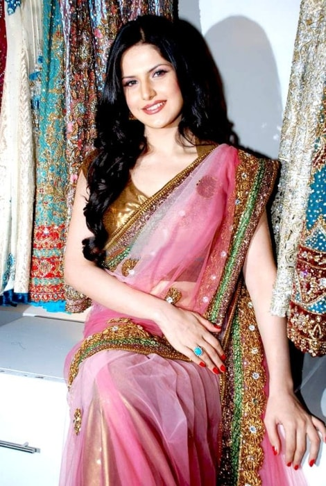 Zareen Khan as seen at the launch of Veer Libas Collection in January 2010