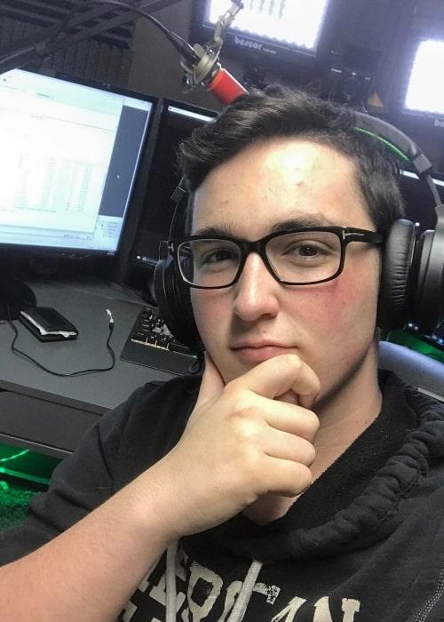 09sharkboy as seen in a selfie taken in April 2017