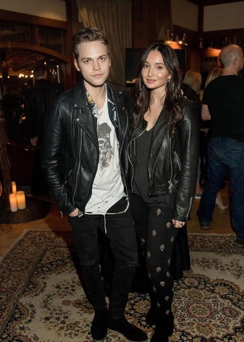 Alexander Calvert as seen while posing for the camera along with Jenna Berman in November 2018