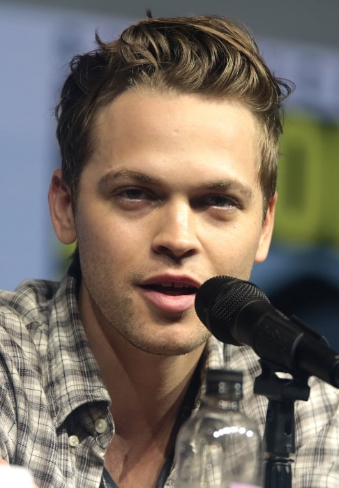 Alexander Calvert as seen while speaking at the 2018 San Diego Comic-Con International in San Diego, California, United States in July 2018