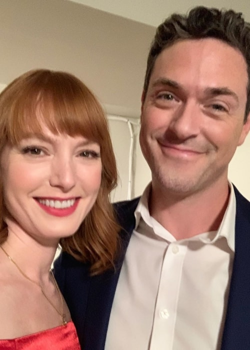 Alicia Witty as seen in a picture taken with actor Brendan Hines in October 2019