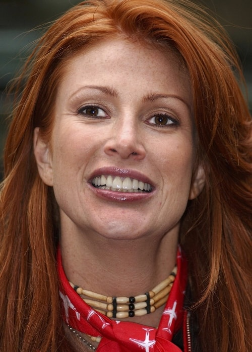 Angie Everhart as seen in a closeup picture