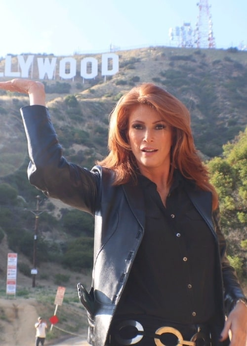 Angie Everhart as seen in a picture taken in Los Angeles in June 2019