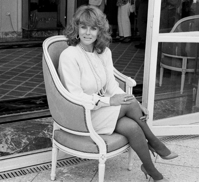 Ann-Margret as seen while sitting on a chair during the Deauville American Film Festival in September 1988