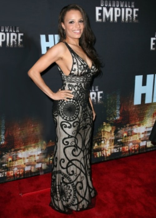 Antonique Smith as seen in a picture taken in at the premier of Boardwalk Empire wearing a fashion selection by Richard Lowe Fashion Group in September 2010