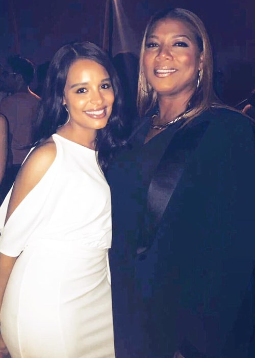 Antonique Smith as seen in a picture taken with rapper, singer, actress, and record producer Queen Latifah in March 2018