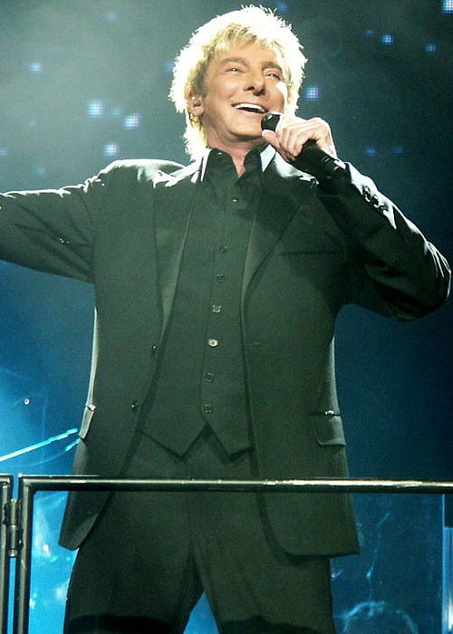 Barry Manilow during a performance at the Xcel Energy Center in January 2008