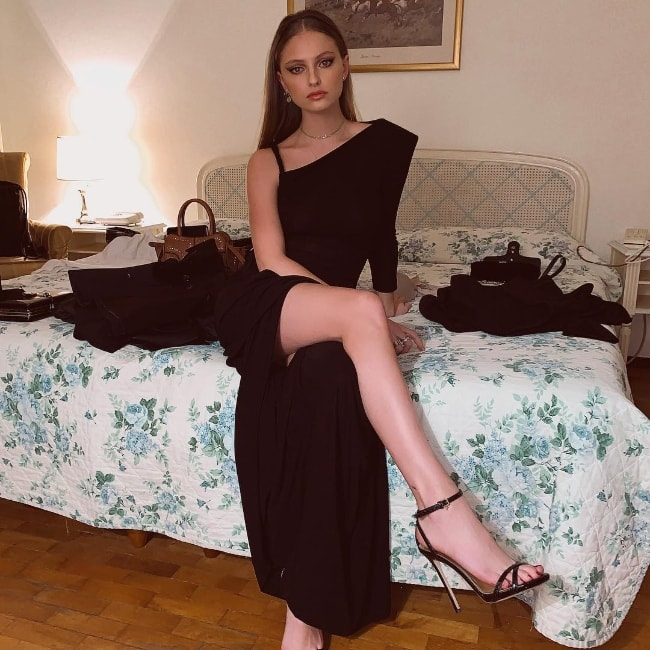 Beatrice Vendramin as seen while posing for a stunning picture in San Remo, Liguria, Italy in February 2019