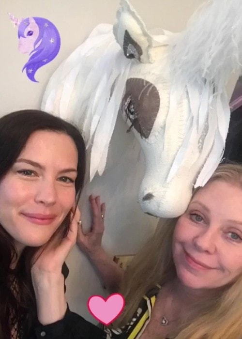 Bebe Buell with her daughter Liv Tyler as seen in July 2019