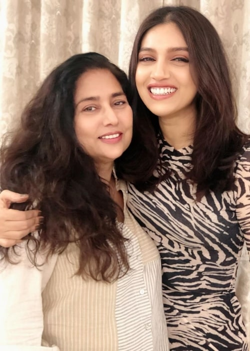 Bhumi Pednekar as seen in a picture with her mother Sumitra Pednekar that was taken in July 2019