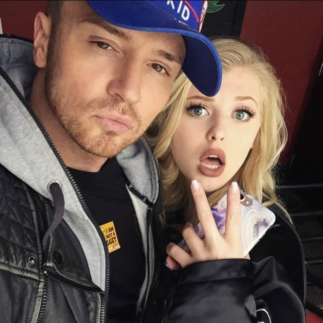 Blair Dreelan and Loren Gray in a selfie in November 2017