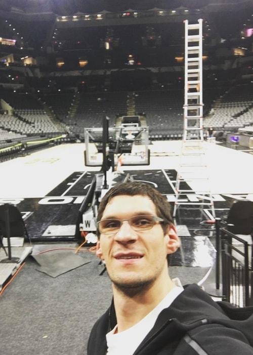 Boban Marjanovic as seen in a selfie taken in November 2016
