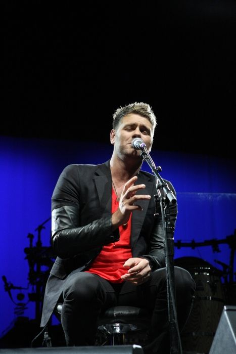 Brian McFadden performing at the Sydney Entertainment Centre in Australia in 2011