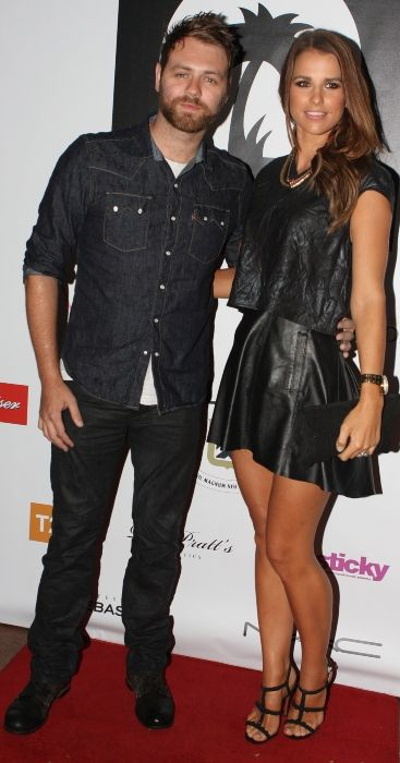 Brian McFadden seen with his wife Vogue Williams in Sydney in 2012