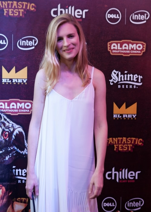 Brit Marling as seen in a picture taken at the red carpet for Fantastic Fest in September 2015