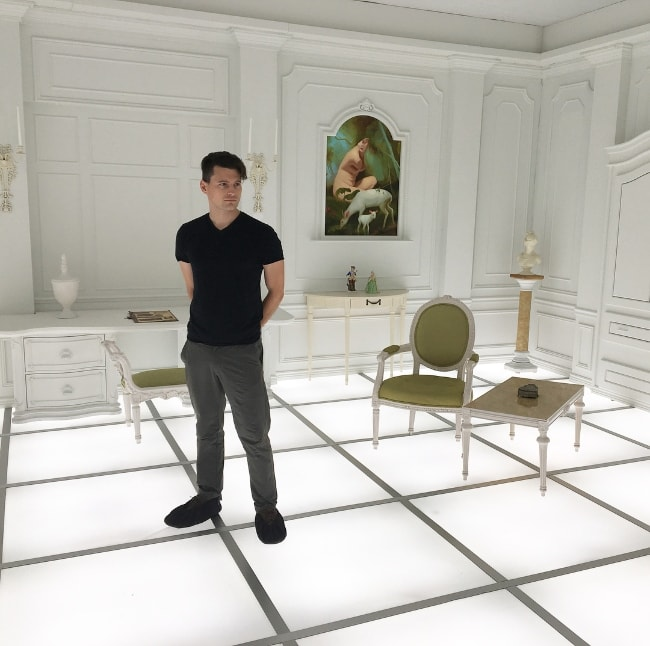 Bryan Dechart as seen while posing for a picture at National Air and Space Museum located in Washington, D.C., United States in May 2018