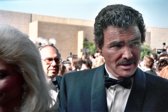 Burt Reynolds as seen on the red carpet for the 43rd Annual Emmy Award in August 1991
