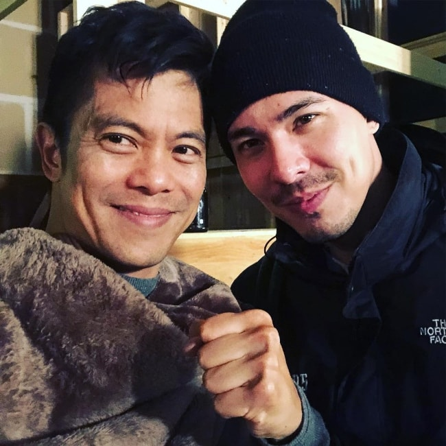 Byron Mann (Left) as seen in a picture along with Lewis Tan in Surrey, British Columbia, Canada in November 2018