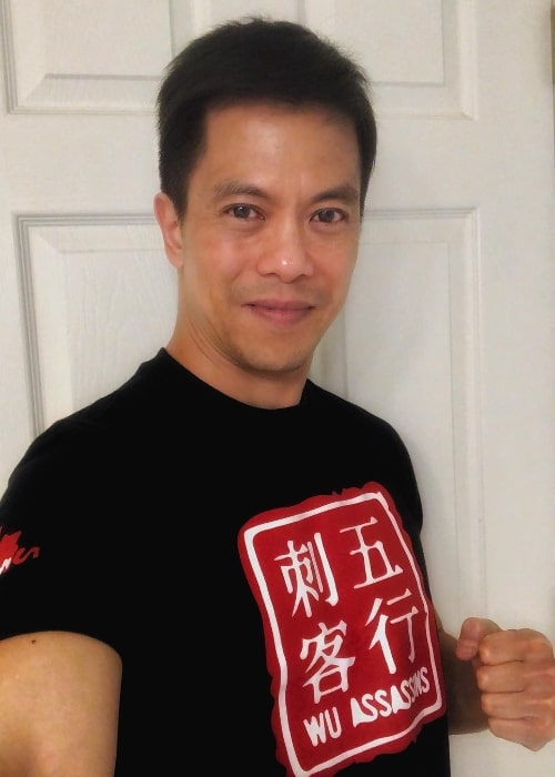 Byron Mann as seen while taking a selfie in January 2019