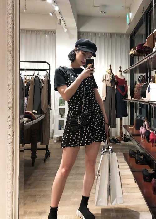 Byun JungHa as seen while taking a mirror selfie in Shibuya, Tokyo, Japan in September 2018