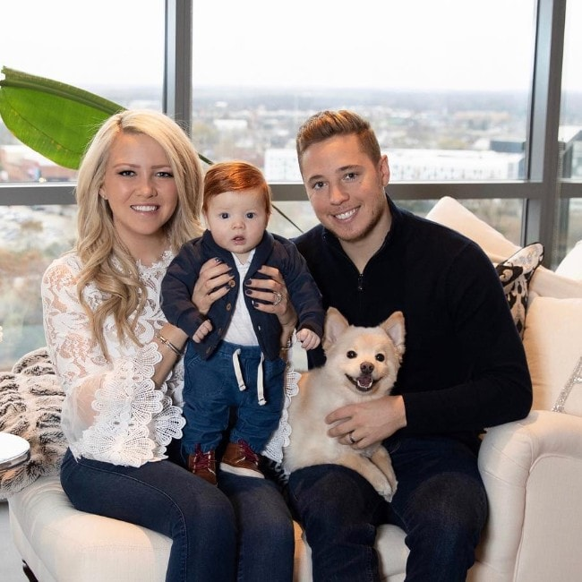 Cam Atkinson with his family as seen in November 2018