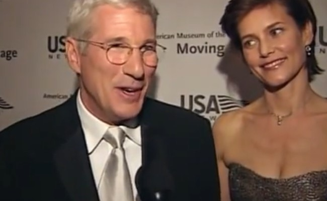 Carey Lowell and Richard Gere during an interview