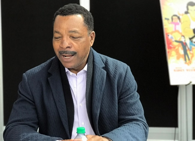 Carl Weathers as seen at the 'Explosion Jones' press room at the Jacob K. Javits Convention Center in Manhattan, New York, United States in October 2017