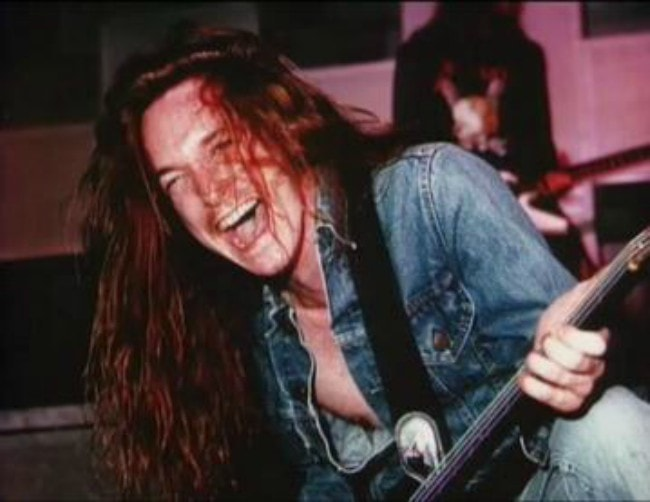 Cliff Burton during a performance in 1986